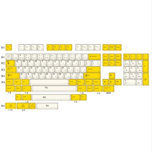 Los nombres de teclas adaptación Serika completo teclado mecánico gran llave PBT Cap sublimación dedicada a la personalidad de bricolaje,Serika