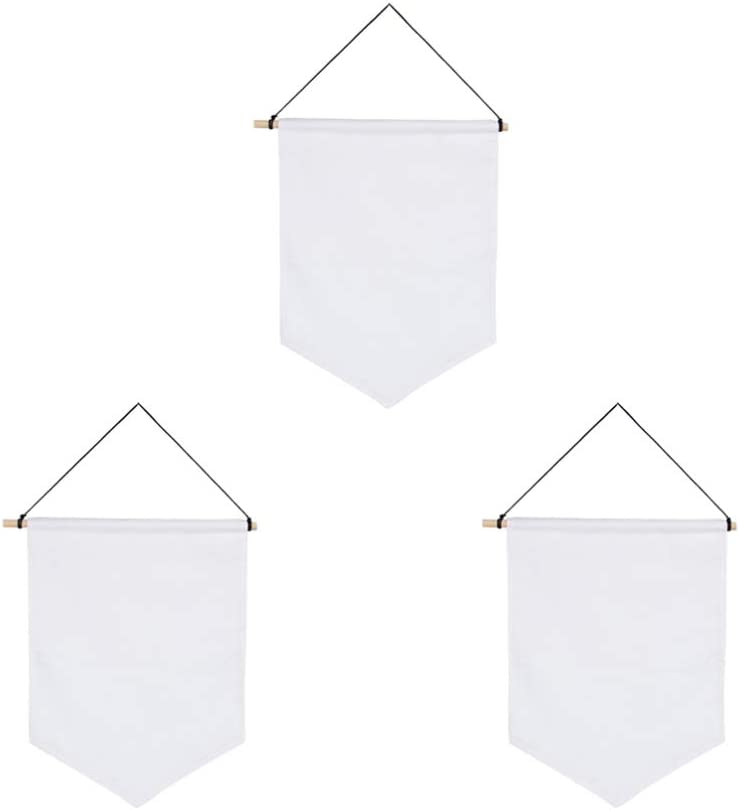 SUPVOX 3pcs Wall Super special price Attention brand Display Banners Pin Canvas Blank Enamel