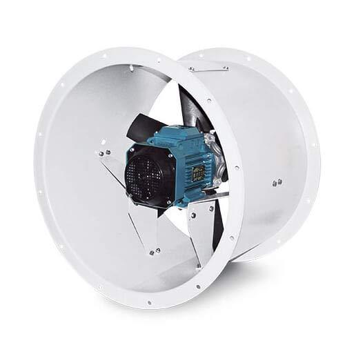 Axiallüfter Rohrventilator ER HP M Serie bis 8000 m³/h, [Ausführung]:40/4