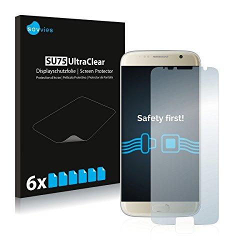 6X Savvies SU75 UltraClear Bildschirmschutz Schutzfolie für Bluboo Edge (ultraklar, mühelosanzubringen)