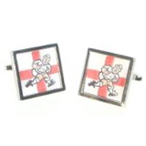 Gtr Men's Cufflinks X2Cc025 England George Cross Rugby Player One Size