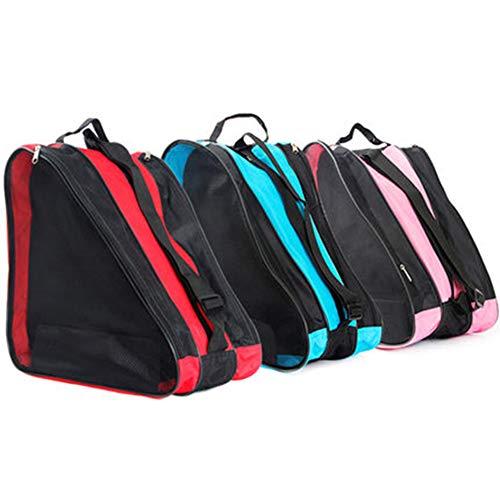 Rollschuh-Tasche - Schulter Oxford-Stoff-Tragerolle Atmungsaktive Triangel-Rollschuh-Tasche - Tasche zum Tragen von Schlittschuhen, Rollschuhen, Inlineskates für Kinder und Erwachsene(Blau)