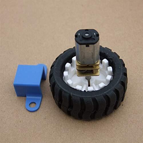 L-Yune,bolt 1set Value Pack 3-12V N20 Orientado Neumáticos Motores con D Palabra Eje de Goma con El Juego de Ruedas del Robot Soporte