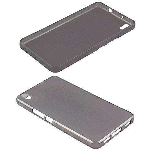 caseroxx TPU-Hülle für Medion S5504 MD 99905/99774, Tasche (TPU-Hülle in schwarz-transparent)