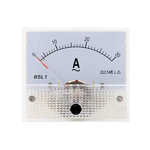 Sweo Zeiger-Ameter, 85L1 AC Panel Meter Analog Panel Amperemeter Dial Current Gauge Pointer Amperemeter, 30a, One size