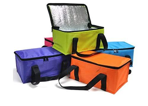 Provance Kühltasche Einkaufstasche Isoliertasche Kühlbox 9,5L Picknicktasche Isolierbox faltbar Picknicktasche Strandtasche (Orange)