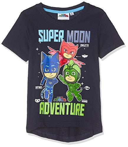 Pyjamasques Jungen T-Shirt 5862, Bleu Marine, 8 Jahre