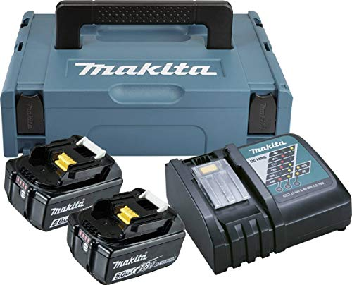Makita B01BIWMBTG - Power Source Kit con batterie e caricabatterie, 18V, 5Ah