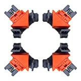Angle Clamps, 4PCS Right Angle Fixing Clip,Multi-function woodworking right angle clamp Adjustable Swing Corner Clamp, Corner Clip Fixer for Welding, Wood-Working, Drilling,Making Cabinets