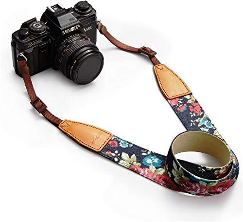 BESTTRENDY Universal Camera Neck Shoulder Strap, Casual Vintage Neck Shoulder Camera Belt for All DSLR Camera Nikon/Canon/Sony/Olympus/Samsung/Pentax...