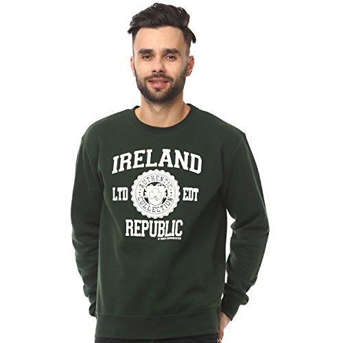 """Sweater-Pullover mit Aufdruck """"Ireland Republic"""", Farbe waldgrün"""