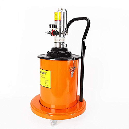 Grease Pump, 5 Gallon Air Operated High Pressure Grease Pump + Pneumatic Universal Gun & Hose Air Operated High Pressure Grease Pump 20L