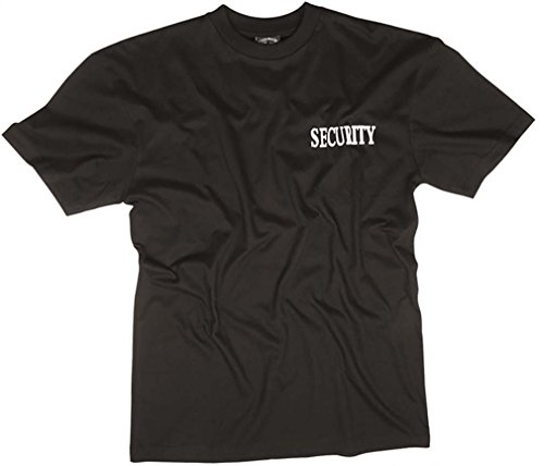 Mil-Tec T-shirt noir avec double impression Security XXXL Noir