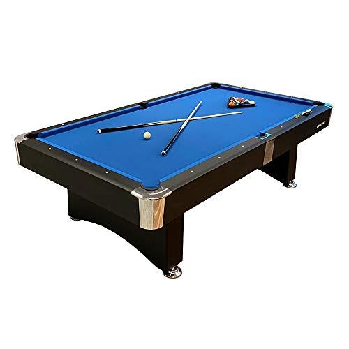 Buckshot Billardtisch 7ft Manhattan - 213 x 122 x 80 cm - 7 Fuß Pool Billard - Kugelrücklauf - Tischbillard mit Zubehör - Billard Tische 110 kg