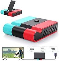 Switch ドック Aptezal スイッチ ドック 最新システム対応 (HDMI変換/TVモード/テーブルモード) 45W高出力対応 1080P高画質 放熱対策 スイッチ 充電スタンド 折りたたみ可 ニンテンド...