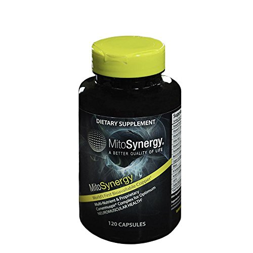 MitoSynergy Advanced - Helps Optimal Neuromuscular Health - Highly Bioavailable Copper Supplement - 120 Capsules