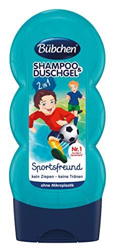 Bübchen Kids Shampoo & Duschgel Sportsfreund, pH-hautneutrale Pflege für Kinderhaut, mit frischem Duft, 1er Pack (1 x 230ml)