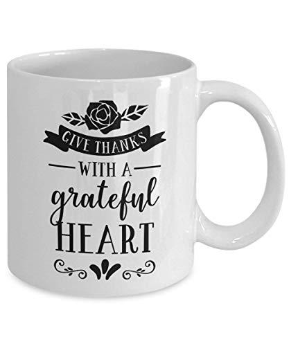 Dankeschön mit einem dankbaren Herzbecher Thanksgiving-Becher Dankbar für Sie Thanksgiving-Zitat Geben Sie Dankeschön-Becher sammeln und danken Sie
