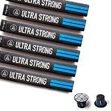 Nespresso Compatible Capsules - Espresso Pods for your Nespresso Machine - ULTRA STRONG, Nespresso Original Coffee Pods, 10-Count Sleeves, (60 Capsules)