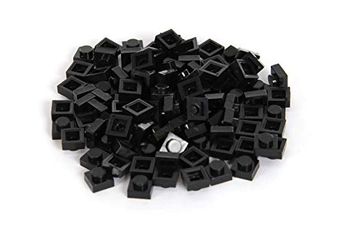 Bricky Blocks 100 Pieces 1x1 Black Standard