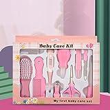 Tienda de Verano 10 en 1 Termómetro para niños, alimentación Nasal Manicure Clamp Clipper Kit de Cuidado de bebé (Color : Pink)