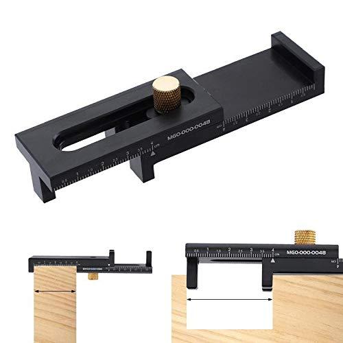QPLKL Zimmerarbeiten Noniusschieber 5-40mm Aluminium-Legierung Mikrometerraum Spur Innen Außen Holzbearbeitungswerkzeug