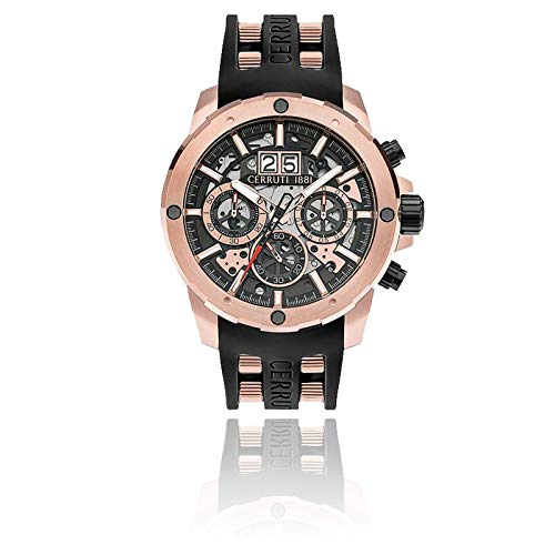 Scopeti Herren-Armbanduhr – Silikonarmband – Gehäuse 46 mm – CRA30401