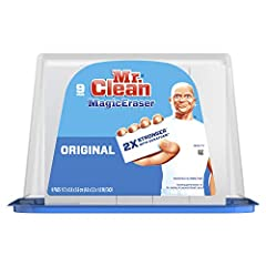Mr. Clean Magic Eraser Original scrubber is 2X Stronger with DURAFOAM Cleaning performance vs. the leading all-purpose bleach spray This cleaning scrubber is tough on dirt, all around the house! Surface cleaner, wall cleaner, bathtub cleaner, oven do...