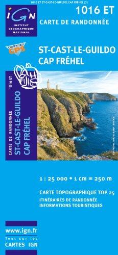 Top25 1016ET - St Cast le Guildo Cap Frehel Wanderkarte mit einem kostenlosen Maßstabslineal