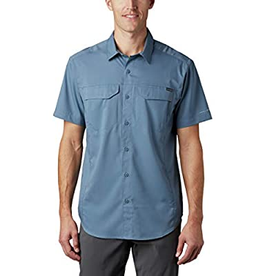 Columbia Men's Silver Ridge Lite Short Sleeve Wicking Shirt, Mountain, X-Large
