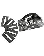 S&R Zakschaaf, Made in Germany, 80 mm met 5 reservemesjes, mini-houtschaaf, handschaaf, eenvoudige schaaf, eenhandschaaf, schaaf, hout