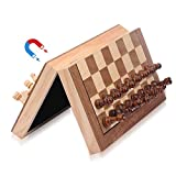 ColorGo Magnetic Wood Chess Set with Folding Chess...