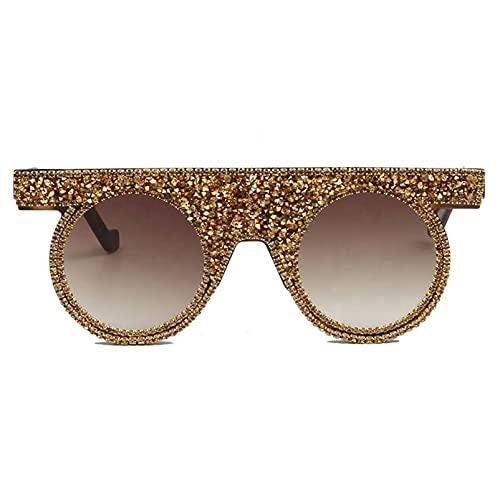 AMFG Gafas de sol de una pieza gafas de sol de diamante brillantes de diamante de diamante de diamante (Color : C, Size : M)