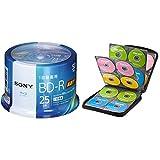 【セット買い】ソニー ビデオ用ブルーレイディスク 50BNR1VJPP6(BD-R 1層:6倍速 50枚スピンドル) & サンワサプライ ブルーレイディスク対応セミハードケース(160枚収納・ブラック) FCD-WLBD160BK