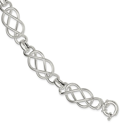 925 Sterling Silver Bracelet 7.75 Inch Contemporary Fine Jewelry For Women Gift Set