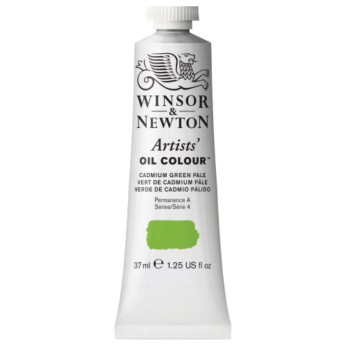 Winsor & Newton Artists' Oil Color Paint, 37-ml Tube, Cadmium Green Pale