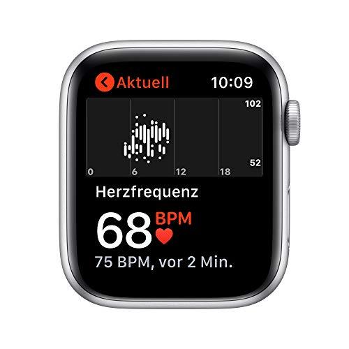 AppleWatch SE (GPS, 44mm) Aluminiumgehäuse Silber, Sportarmband Weiß
