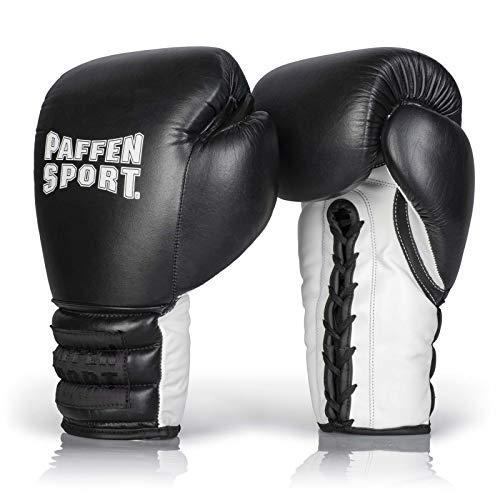 Paffen Sport «PRO LACE» Boxhandschuhe für das Sparring Gewicht: 12uz Farbe: schwarz/weiß
