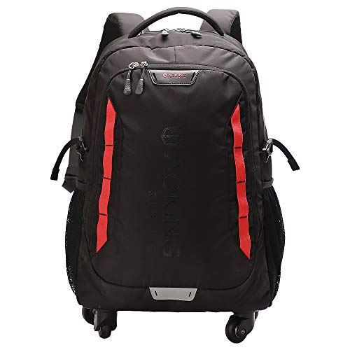 AOKING 20/22″Water Resistant Rolling Wheeled Backpack Laptop Compartment Bag(22 inch, Black)
