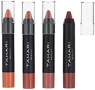 Tahari Beauty, Women's Cosmetics – Nudes Power Play Lip Collection – Set of 4 Lip Crayons