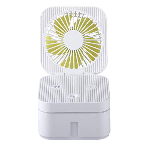 Fanes Tragbarer Luftreinigungs-Luftbefeuchter-Ventilator Mini-Ventilator Tragbarer Ventilator Kaltnebel-Luftbefeuchter-Zerstäuber Luftreiniger-Luftbefeuchtungsgerät für Babyzimmer,White