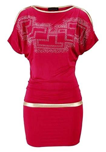 Melrose Abendkleid Kleid m. Strass, rot-gold Größe 38