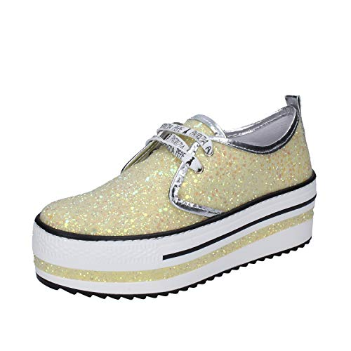 PATRIZIA PEPE Sneakers Damen Glitter gelb 39 EU