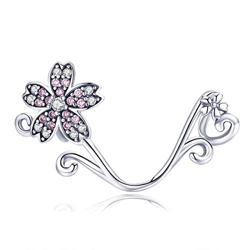 Snowflake Dangle Hat Animal Deer Beads Charm Authentic 925 Sterling Silver For Pandora Charms Bracelet (Flower Charm)