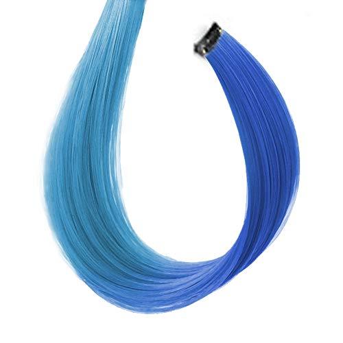 Beashine Extension De Cheveux Colorés,Perruques Naturelles Qui Peuvent êTre Soufflées Perm,Stable Et Pas Facile à TombermèChes De Cheveux Multicolores