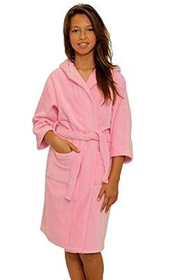 Children's Velour Hooded Bathrobe Boys and Girls 100% Natural Cotton Kids Robe