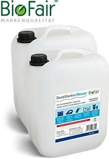 BioFair® Agua desmineralizada (20 litros) de acuerdo con VDE 0510-2 x 10 litros (agua destilada) - envío gratis