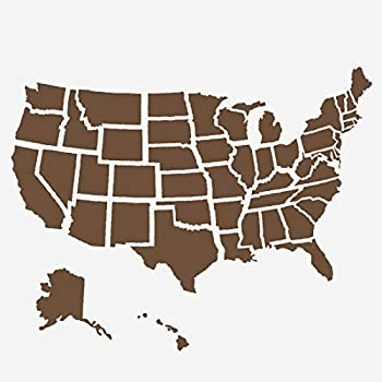 American Flag Stencils United States Map Template - Reusable Stencil for Painting on Wood Paper Fabric Glass and Wall Art  12 x12