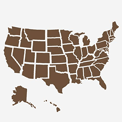 American Flag Stencils United States Map Template - Reusable Stencil for Painting on Wood, Paper, Fabric, Glass, and Wall Art (6'x6')