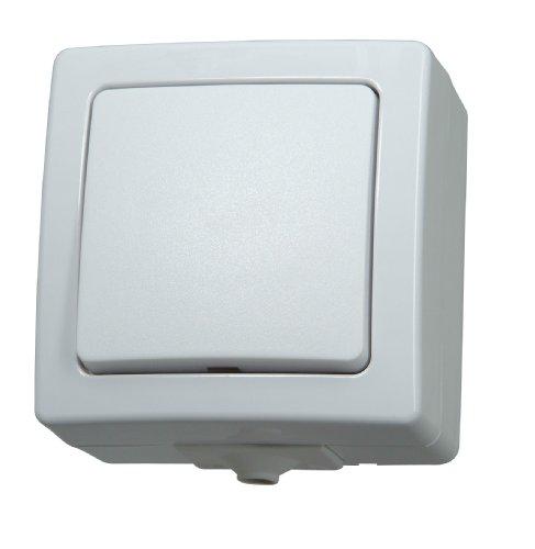 Kopp 565602002 Universalschalter (Aus- und Wechselschalter) Aufputz-Feuchtraum Nautic